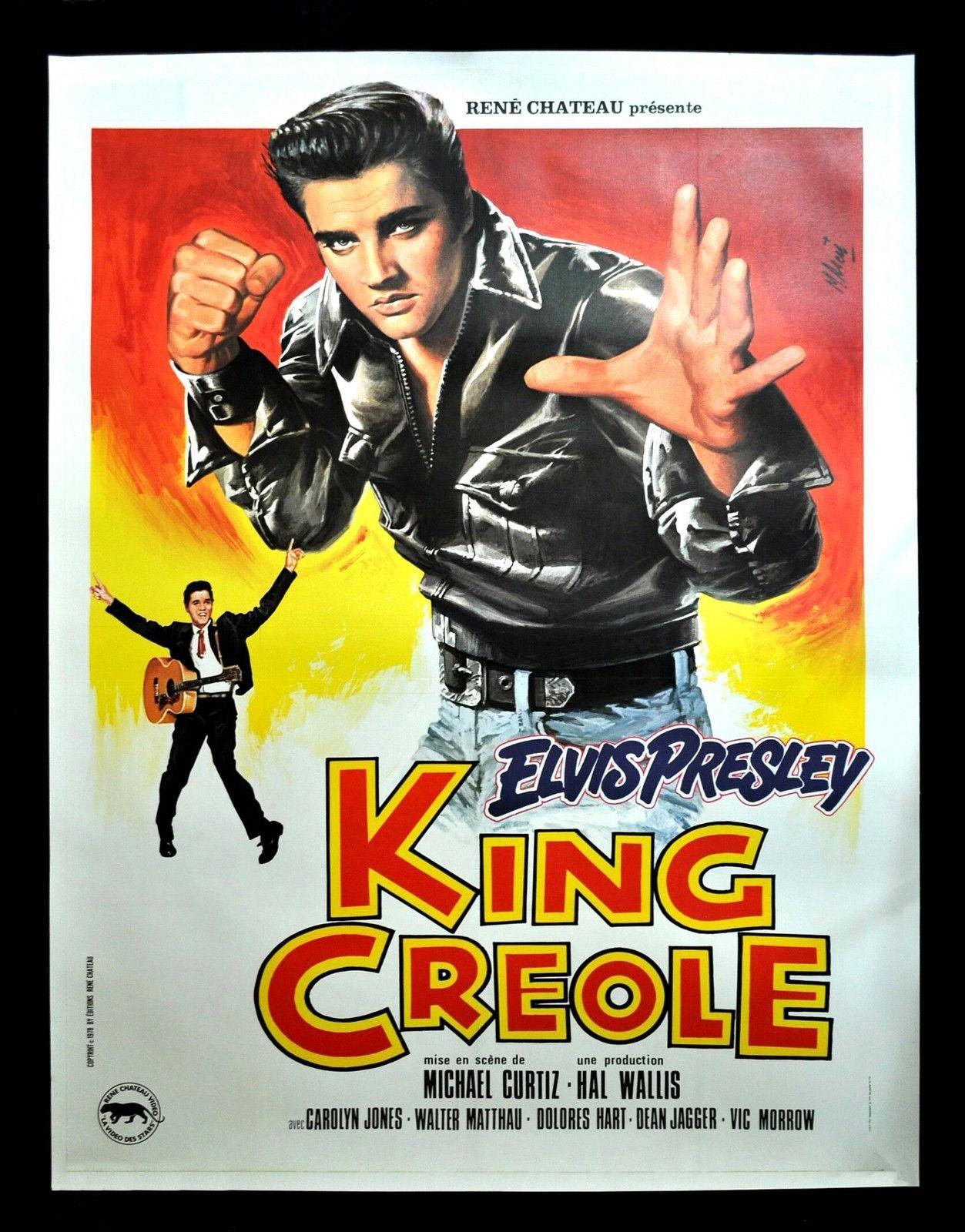 KING CREOLE * CineMasterpieces FRENCH ELVIS PRESLEY ...