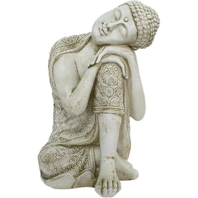 Statue boudhha avec mains sur le genou en pierre reconstituée #greekstatue