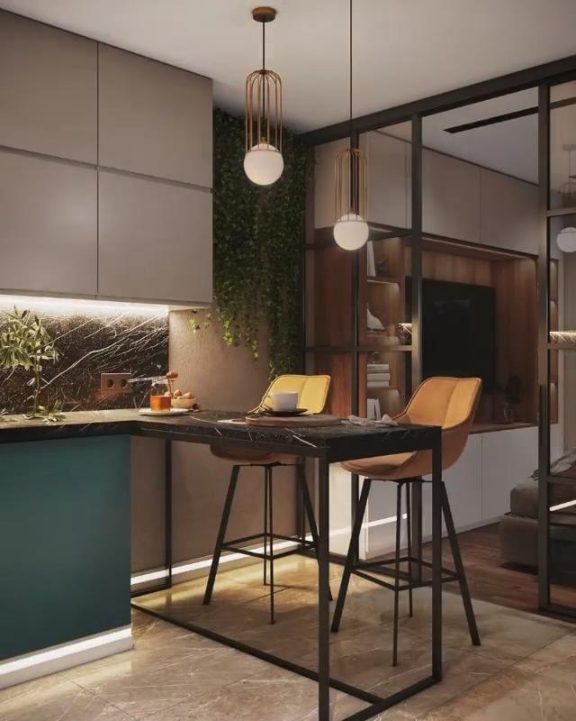 Интерьер в теплых тонах - Студия дизайна MOSSEBO