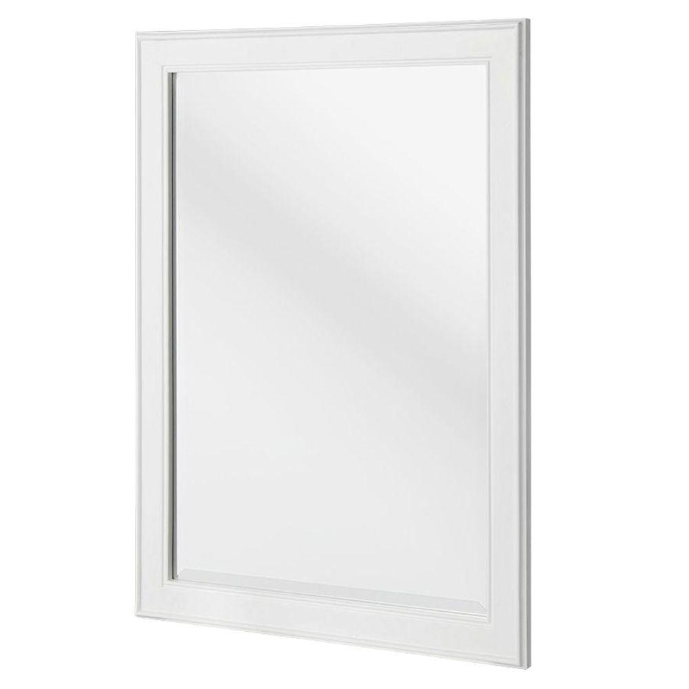 Home Decorators Collection Gazette 24 In X 32 In Framed Wall Mirror In White Gawm2432 With Images Framed Mirror Wall Frames On Wall White Mirror Frame