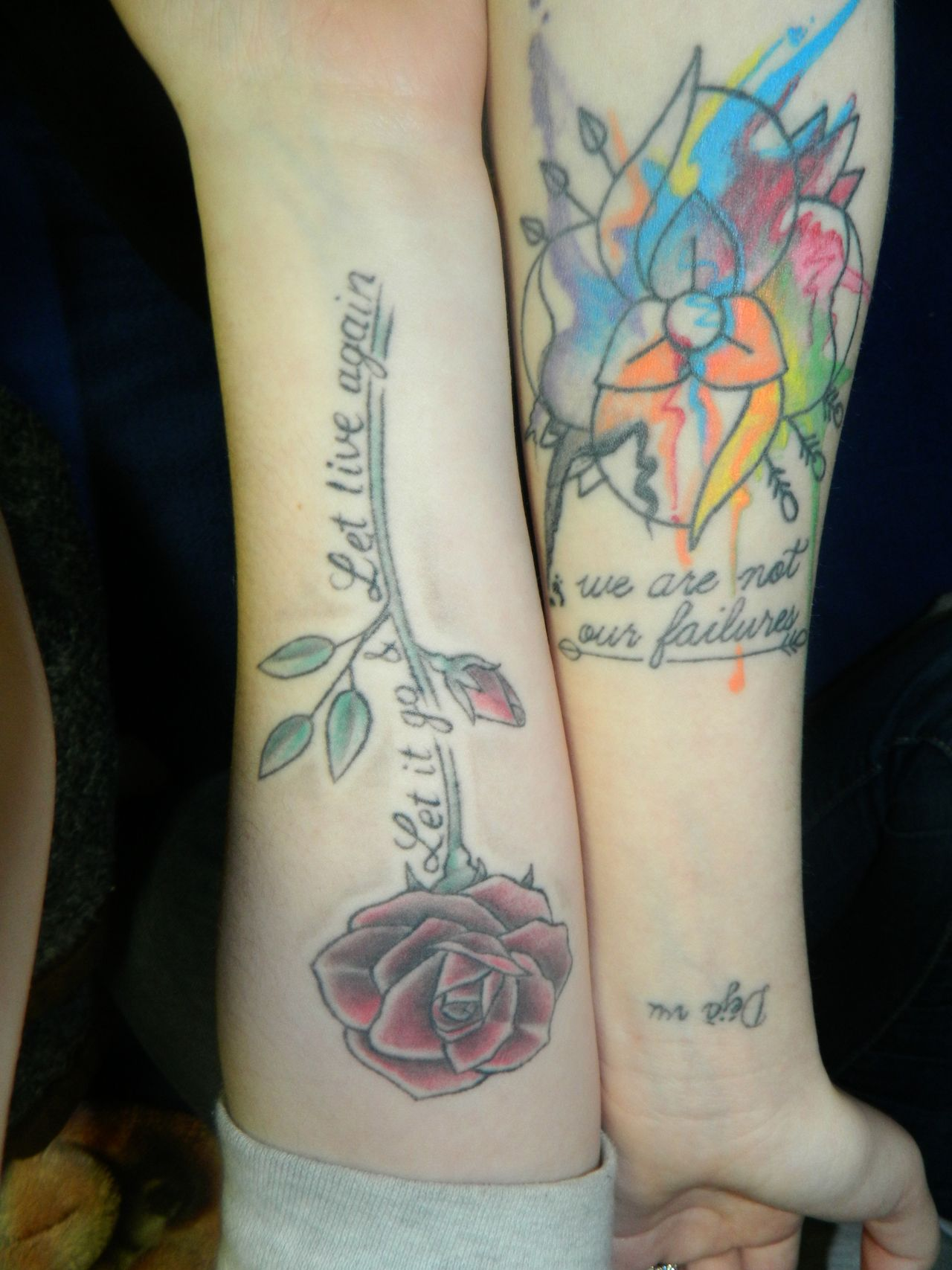 Band tattoos Mice And Men & La Dispute submitted by counterpur