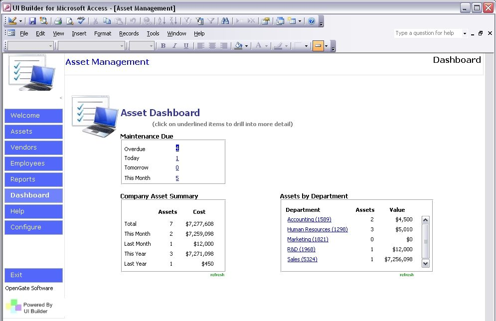 Small Business Access Database Template Creative