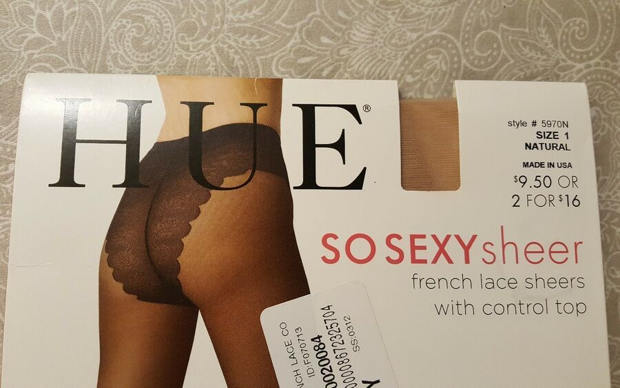 632277893f701 HUE SO SEXY French Lace Sheers Control Top Pantyhose Hosiery - Women's SZ 1  8672325759 eBay#Sheers#Control#Top