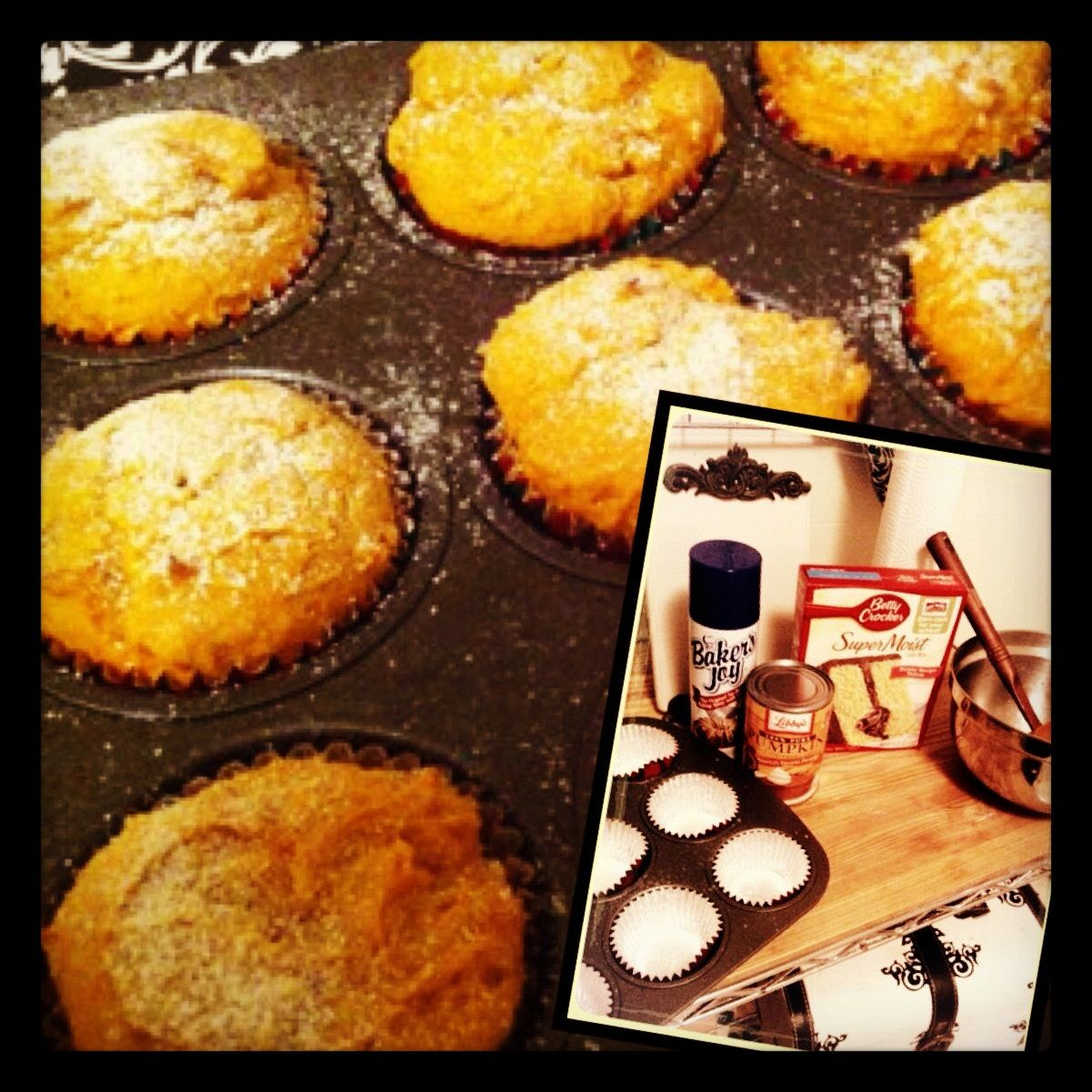 Mini Pumpkin Muffins With Yellow Cake Mix