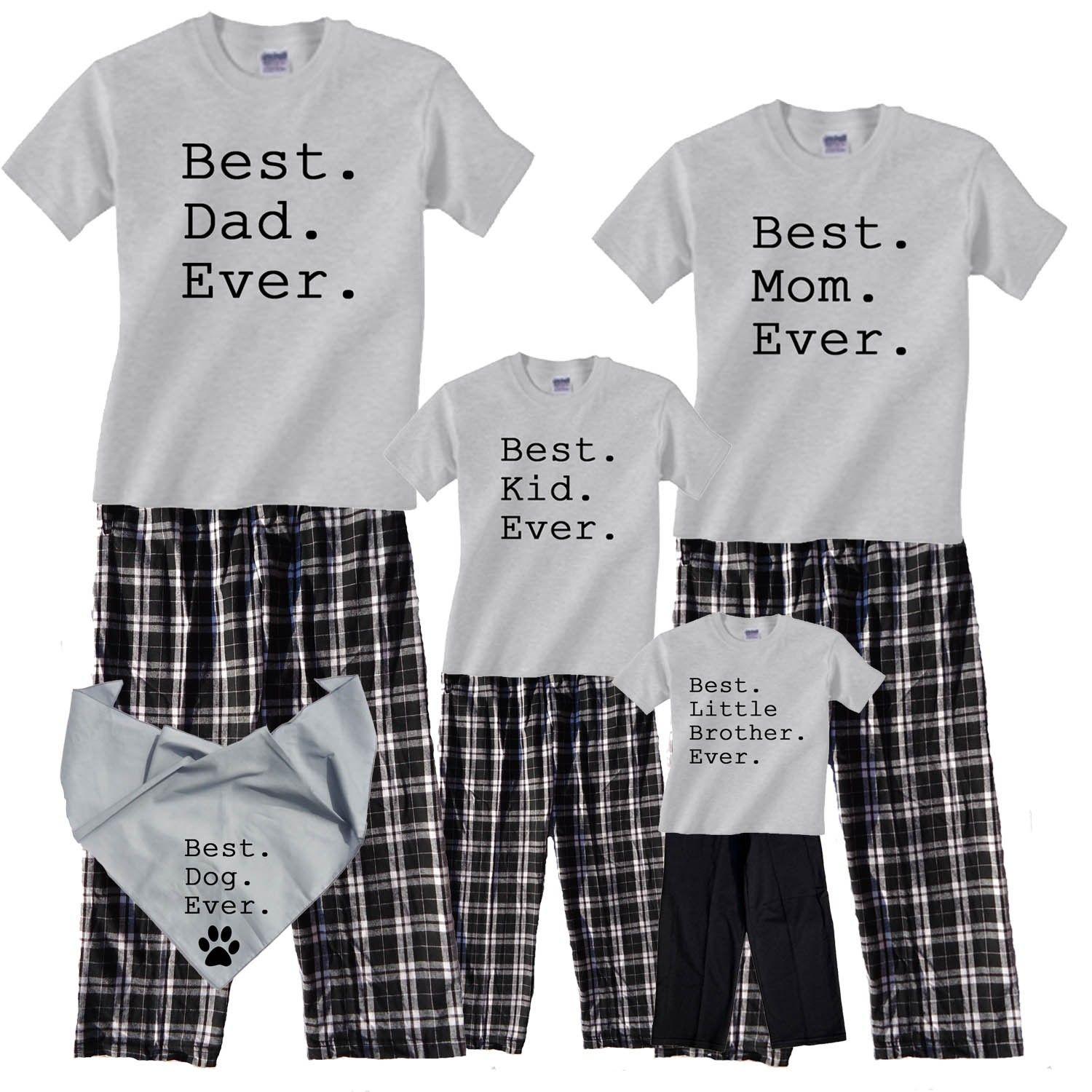 Personalized Best Ever Family Pajamas