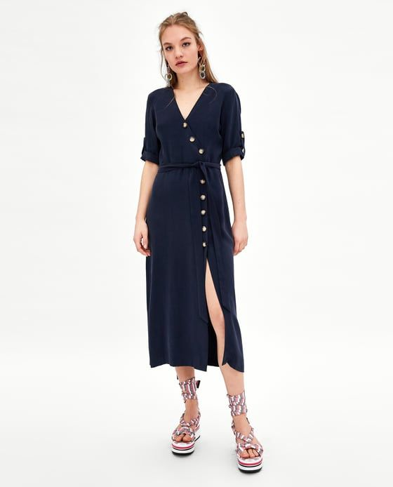 7d0151516f ZARA - TRF - MIDI DRESS WITH BUTTONS Another great Summer staple dress.  It s hard