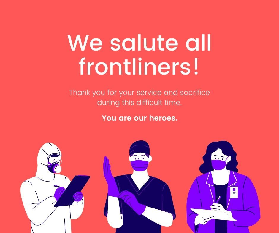 Thank you Frontliners! ️ Stay Safe everyone! 😷🏠 in 2020