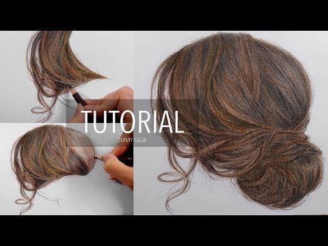 Tutorial How To Draw Color A Realistic Eye And Eyebrow With Colored Pencils Emmy Kalia Youtube How To Draw Hair Hair Techniques How To Draw Eyebrows