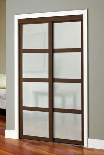 Colonial Elegance Fusion Plus 48 X 80 1 2 Framed Frosted Glass Sliding Door At Menards Colonial Elega Sliding Closet Doors Closet Doors Sliding Glass Door