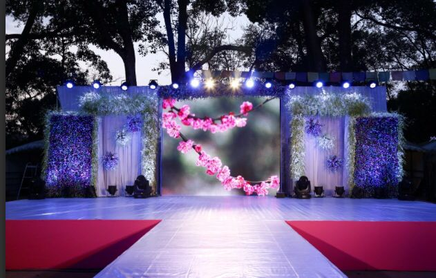 Stage decoration for a wedding at gokarna forest resort kathmandu stage decoration for a wedding at gokarna forest resort kathmandu nepal junglespirit Image collections