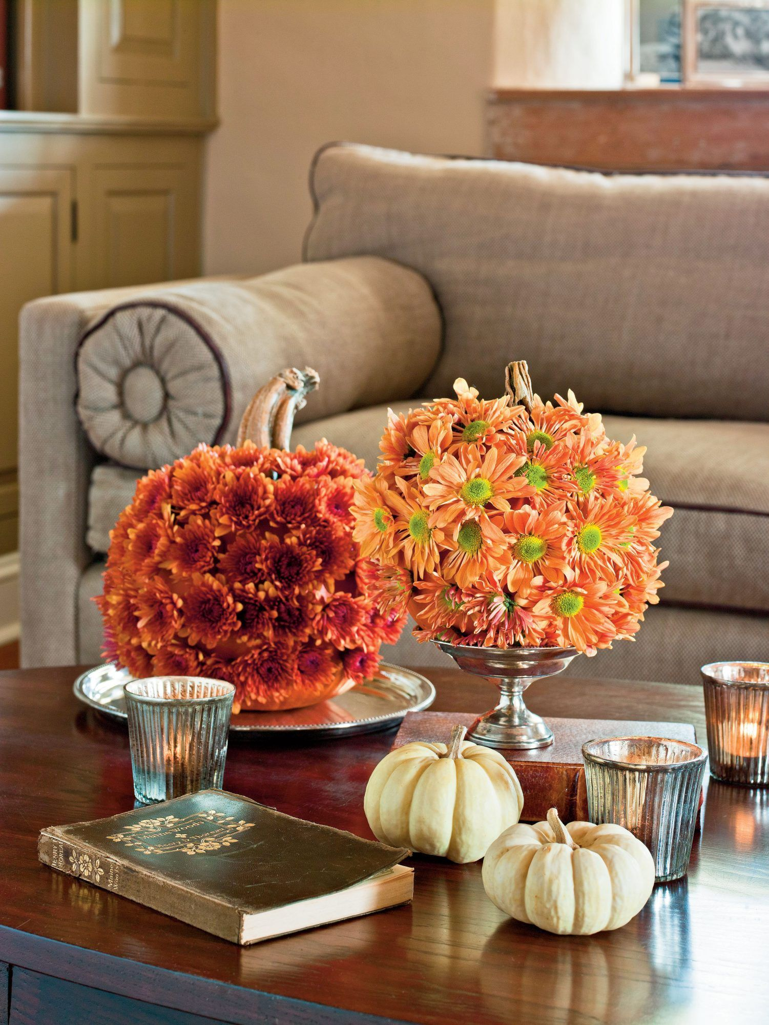 Autumn Centerpieces To Complete Your Fall Feast Fall Centerpiece Fall Table Decor Fall Table