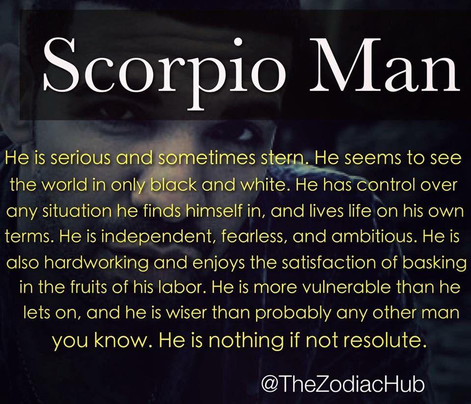 Characteristics of scorpio man