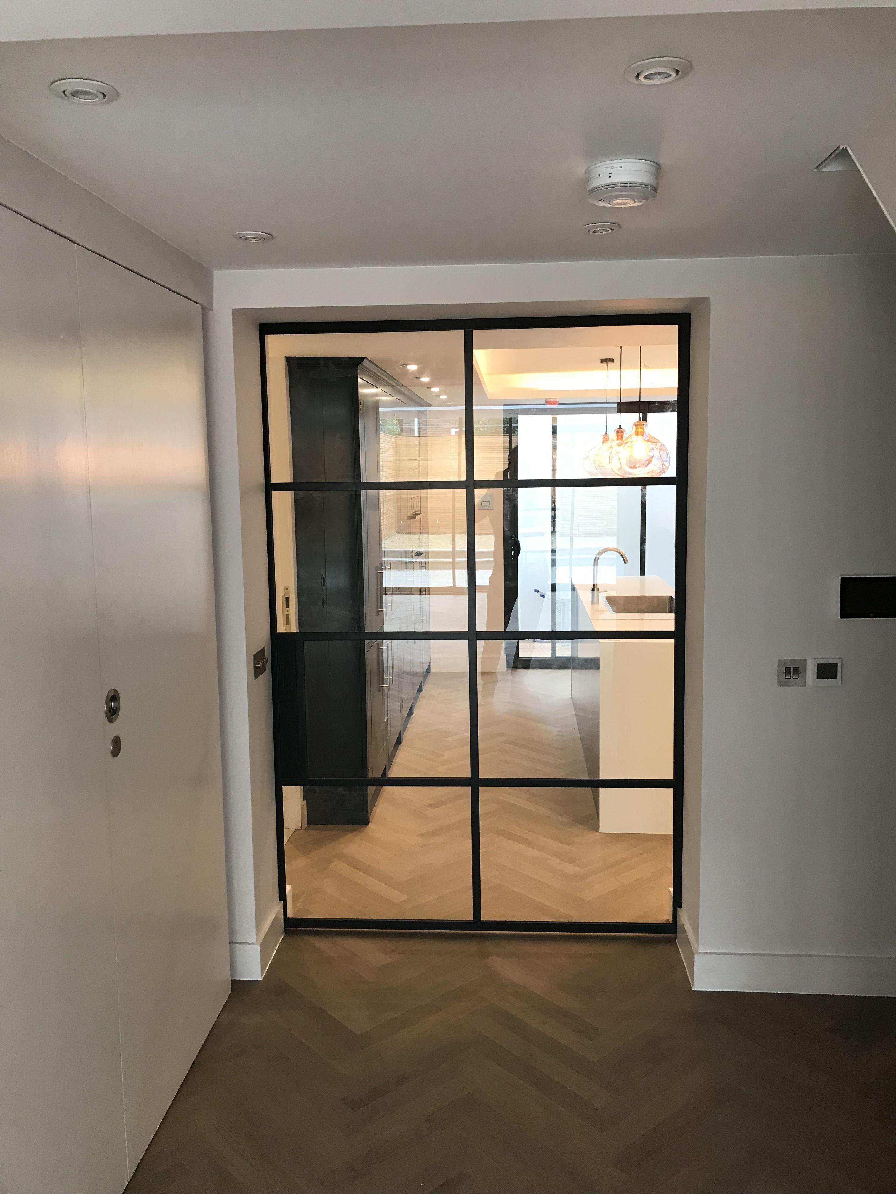 Pocket Crittall Door In Steel In 2020 Steel Windows Steel Frame Doors Windows And Doors