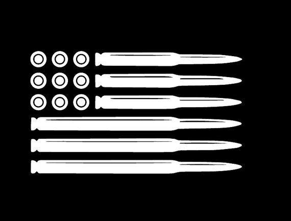 Bullet American Flag Decal Ammo Flag Vinyl By
