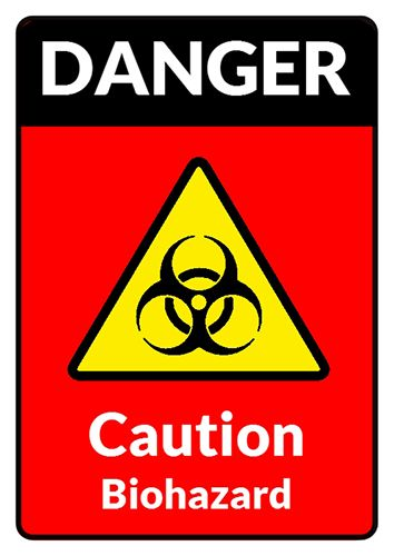 Danger Poster Designer Biohazard Sign Template Try Now On Http - Caution sign template