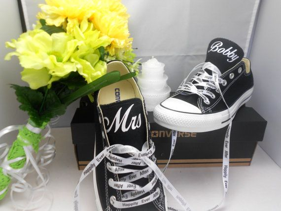 Black Converse All-Star Chuck Taylor Oxford customized with a ...