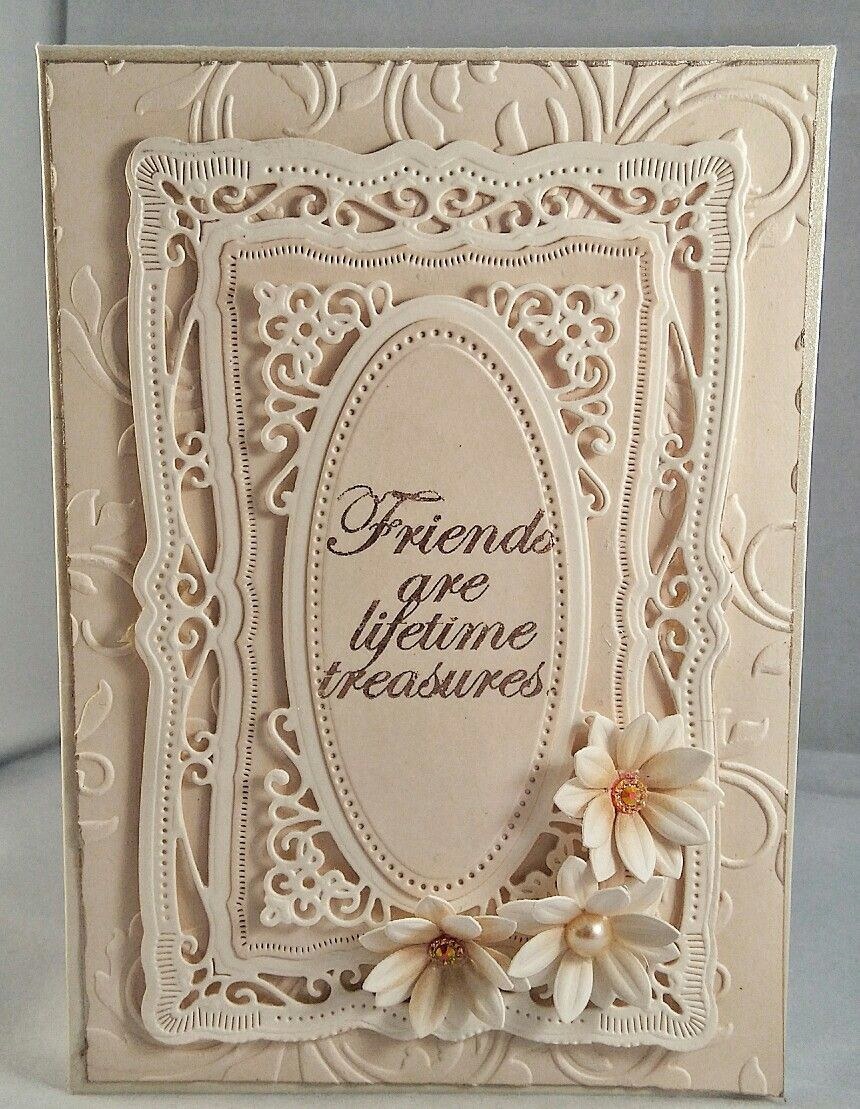 Handmade birthday card using spellbinders dies. Flowers ...