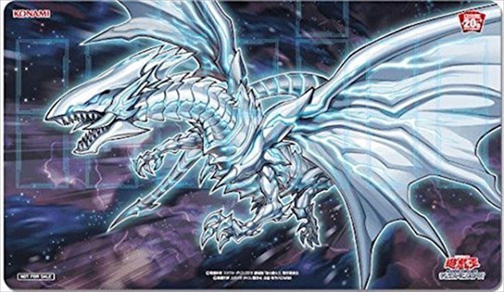 Yugioh Blue Eyes Alternative White Dragon Playmat 20th Anniversary Official New Dragon Blanco Dragones Imagenes De Yugioh