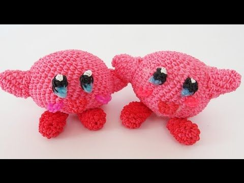 Amigurumi Loom Patterns : Kirby mario bros rainbow loom bands amigurumi loomigurumi hook only