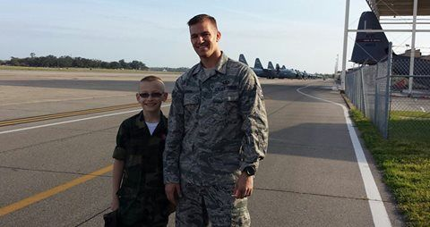 One Boy USO Cody shared..... Sgt Hough giving us a tour of the airfield and tower at Keesler AFB! These heroes are amazing!