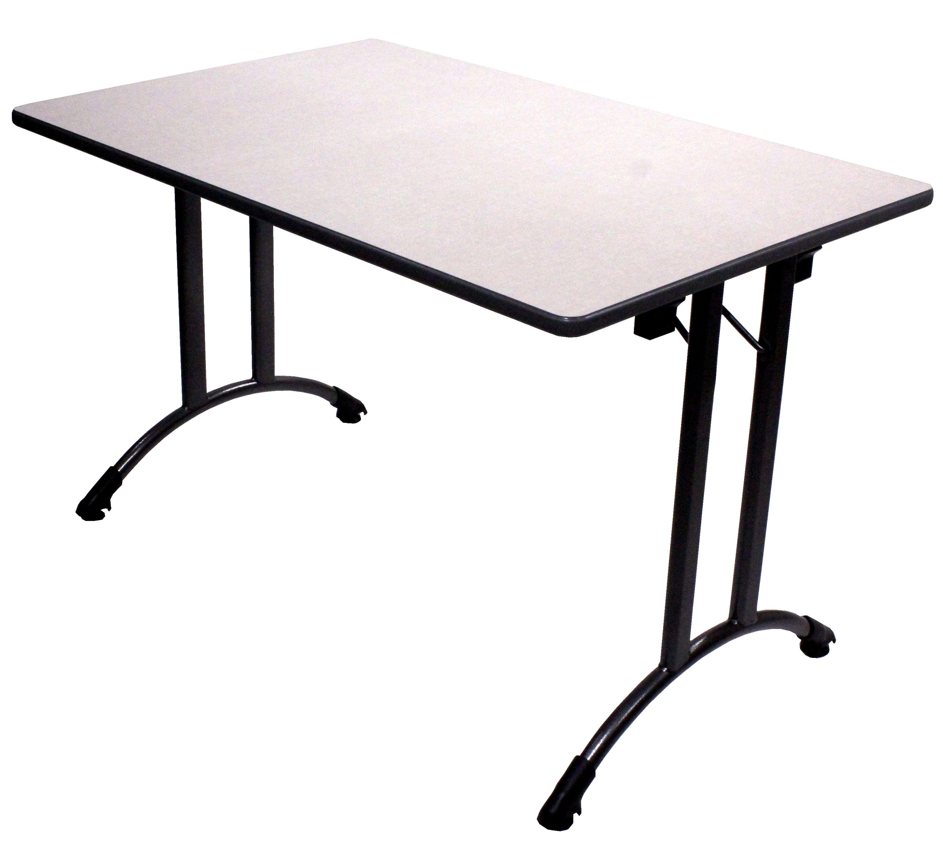 Beau TABLE ALSACE DEGAGEMENT LATERAL PLIANTE PLATEAU STRATIFIE #table  #degagementlateral #salleamanger #restauration #metal #stratifie
