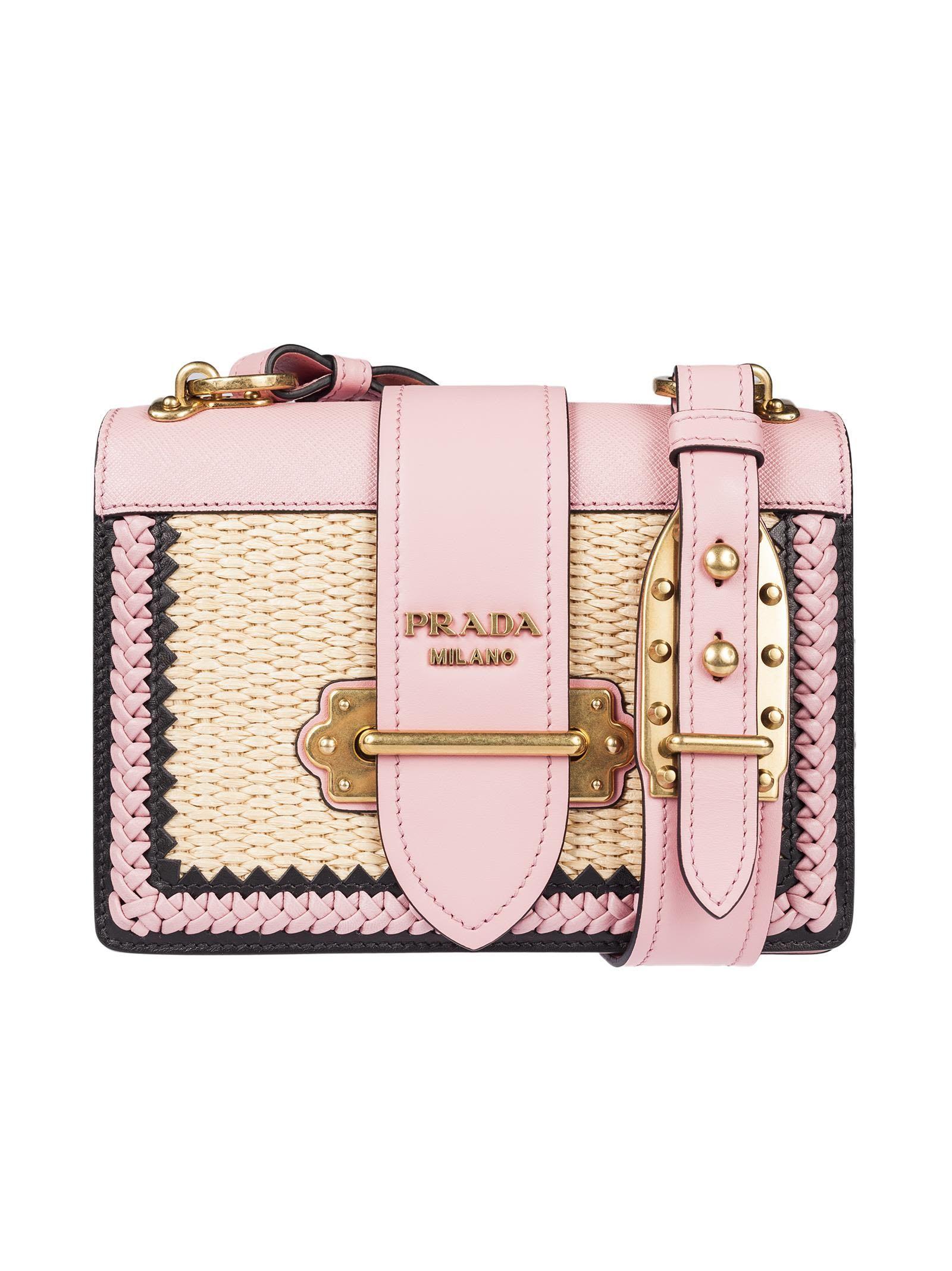 905a51d5bd PRADA CAHIER STRAW SHOULDER BAG.  prada  bags  shoulder bags