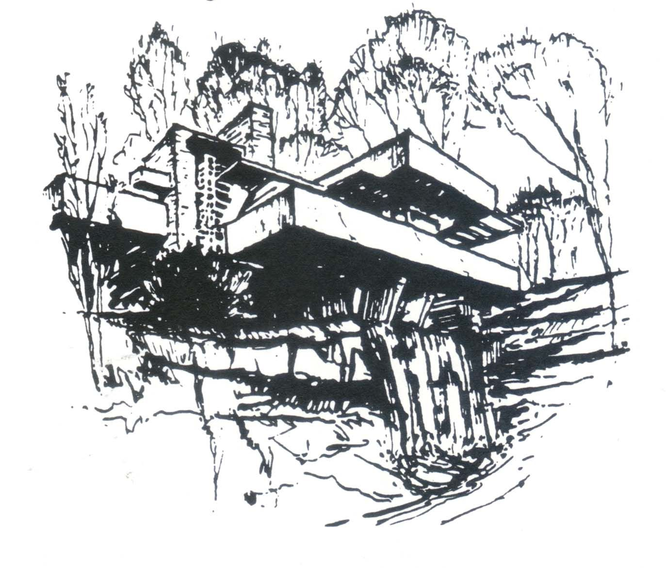 Fallingwater House Sketch