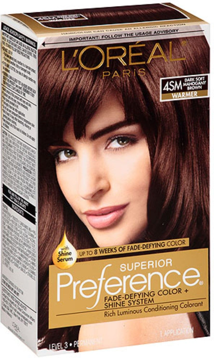 Loreal Superior Preference 4sm Dark Soft Mahogany My Go Too Hair