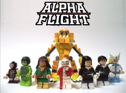 Alpha Flight mini-figs!  Geek chubby!