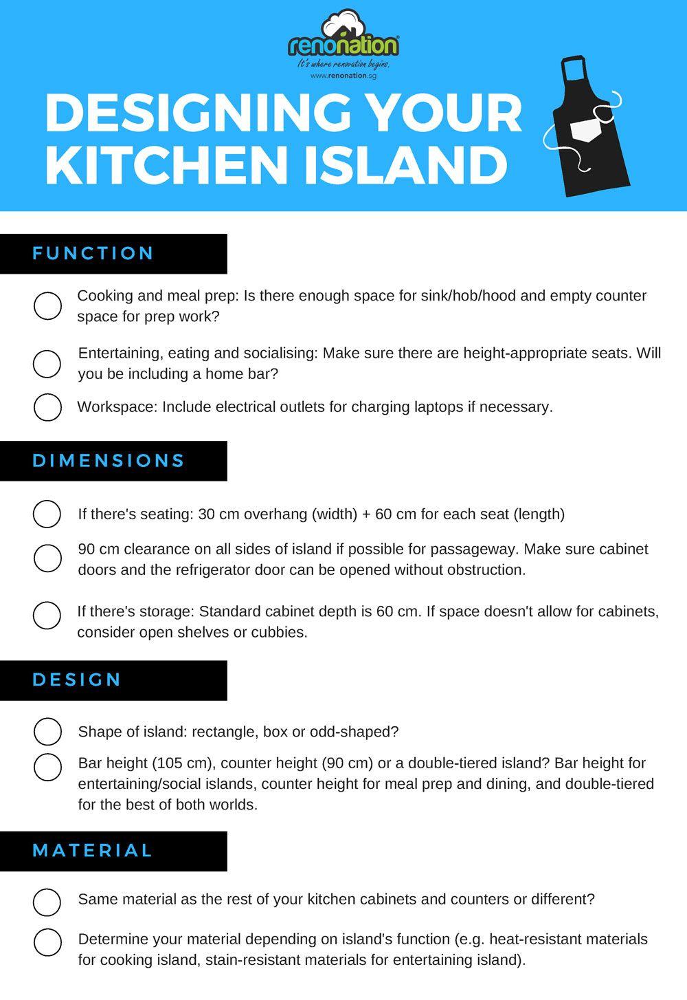 What To Consider When Designing A Kitchen Island Checklist Included Kitchen Island Design Your Kitchen Design