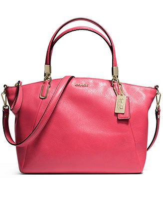 d304ed87b8 COACH MADISON SMALL KELSEY SATCHEL IN LEATHER - COACH - Handbags    Accessories - Macy s