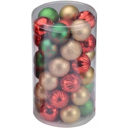 Holiday Time Green,Gold And Red Shatterproof Christmas Ornaments, 41 Count  $8.99 (