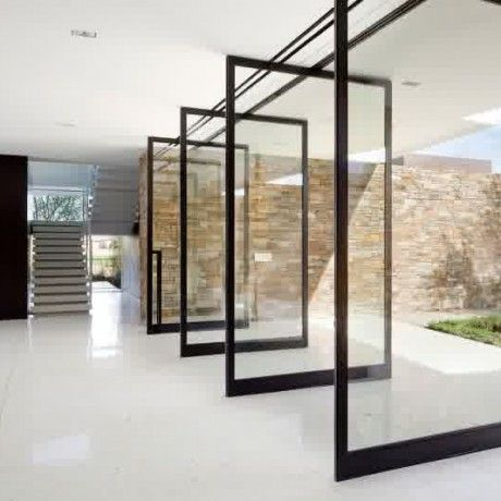 Enticing Sliding Glass Door Design For Backyard Come With 4 Black