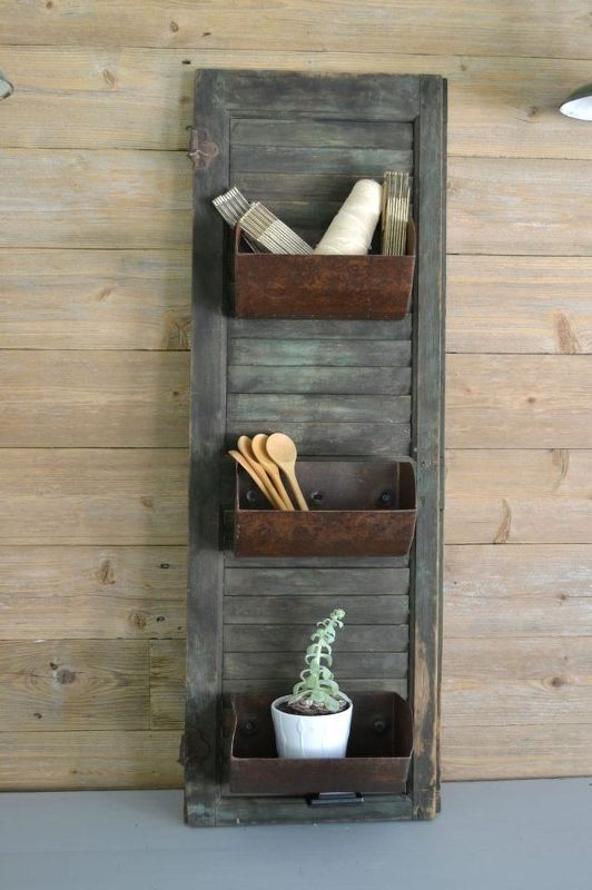 how to turn grain bins into wall storage with images on fantastic repurposed furniture projects ideas in time for father s day id=23256