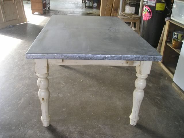 Bought An Antique Zinc Top Table Just Like This To Use As The Kitchen  Island And Work Table, It Was Only 75$ Because It Was Missing One Knob