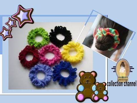 94 كروشيه توكه للشعر X2f رابطة شعر X2f سهله جدا للمبتدئين Crochet Hair Scrunchie Youtube Crochet Slipper Pattern Crochet Crafts