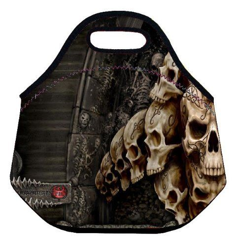 Skull Soft Friendly Insulated Lunch box Food Bag Neoprene Gourmet Handbag lunchbox Cooler warm Pouch Tote bag For School work , http://www.amazon.com