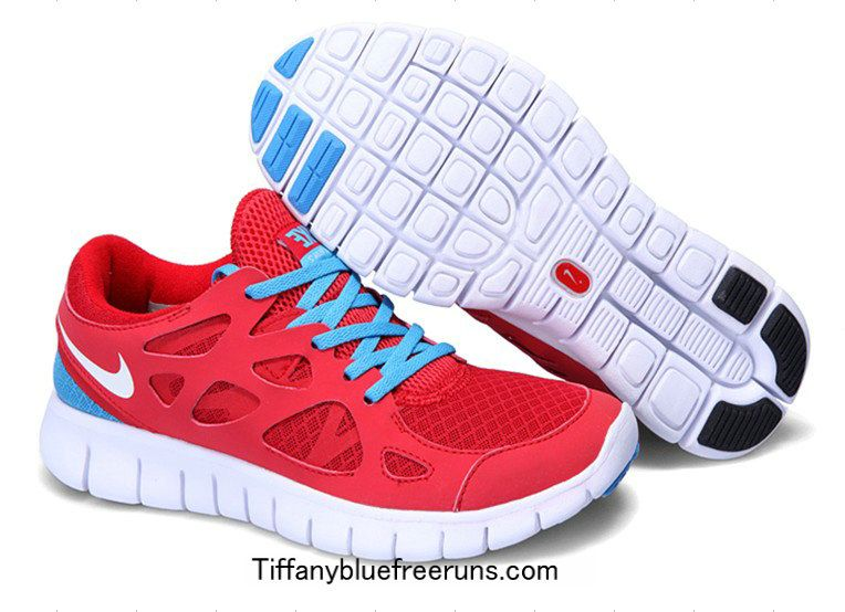 Sport Red White Blue Glow Nike Free Runs 2 Boys