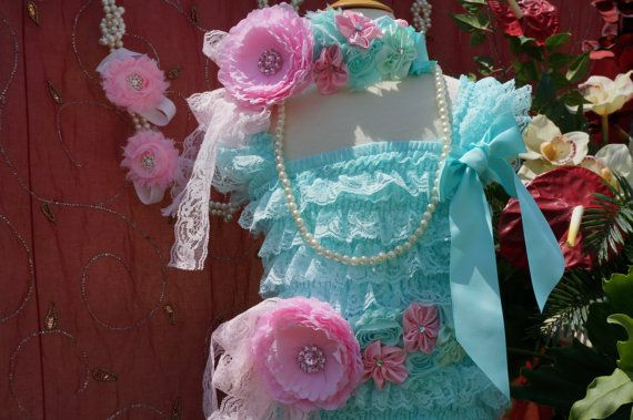 Lace Baby Dress  Aqua Baby Dress  Tiffany baby  by AmazinGems, $45.99