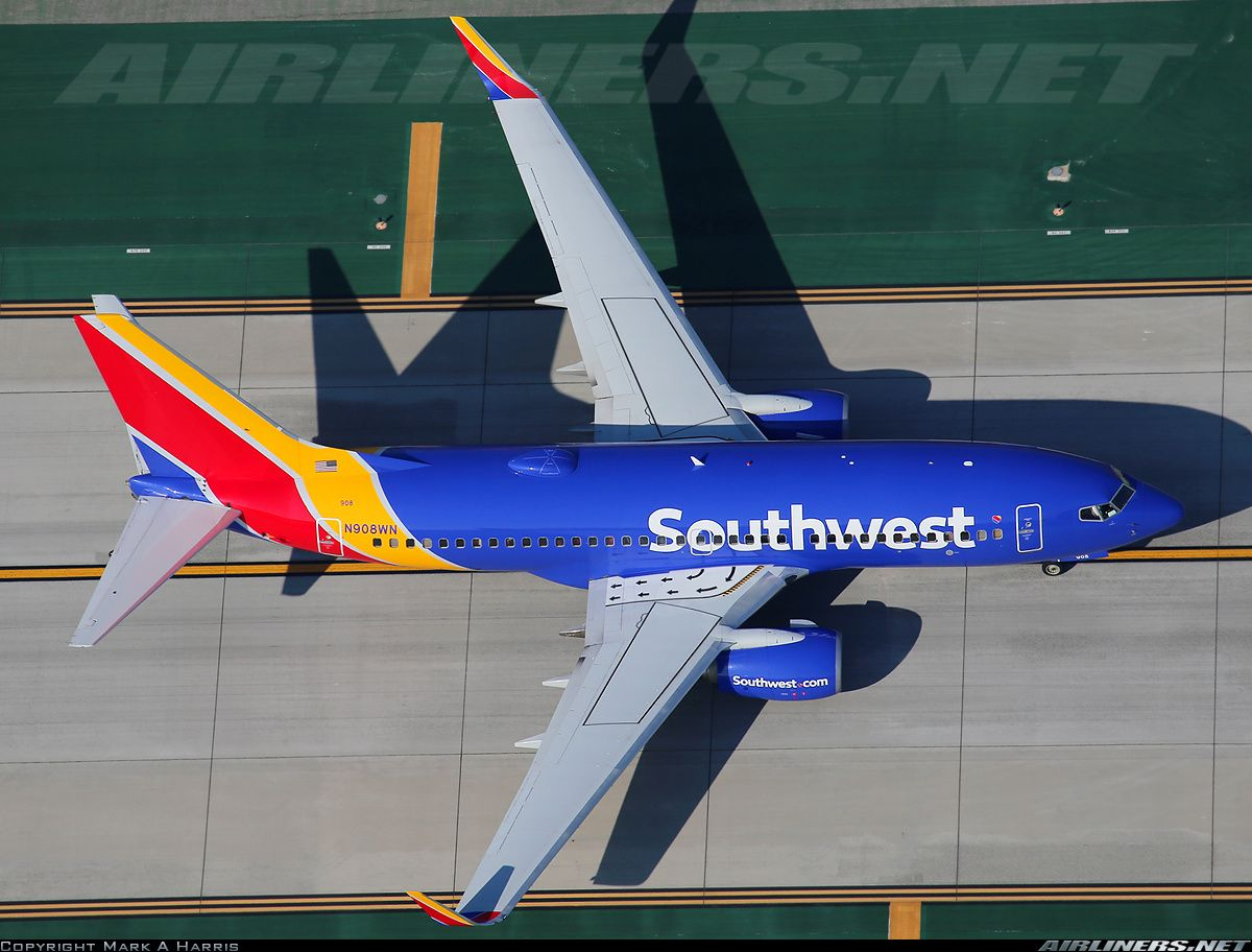 Boeing 7377H4 aircraft picture Southwest Airlines
