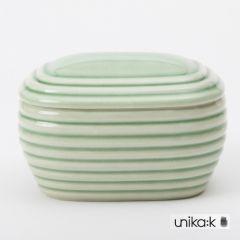 Hanne Bertelsen - Keramik smørskål, grøn