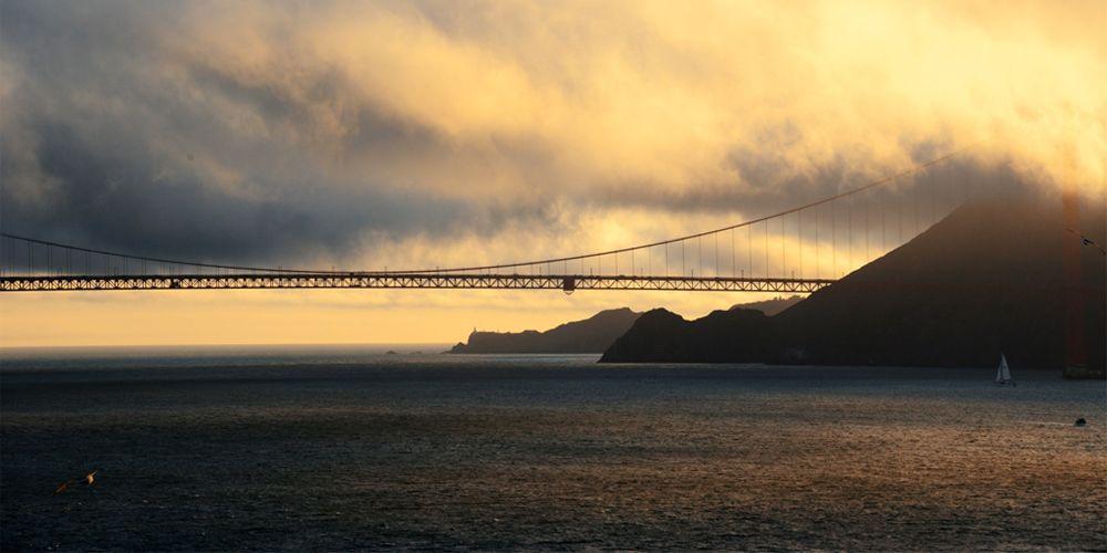 "DAY 68:  ""DISAPPEARING BRIDGE""  -  2013  San Francisco, USA"