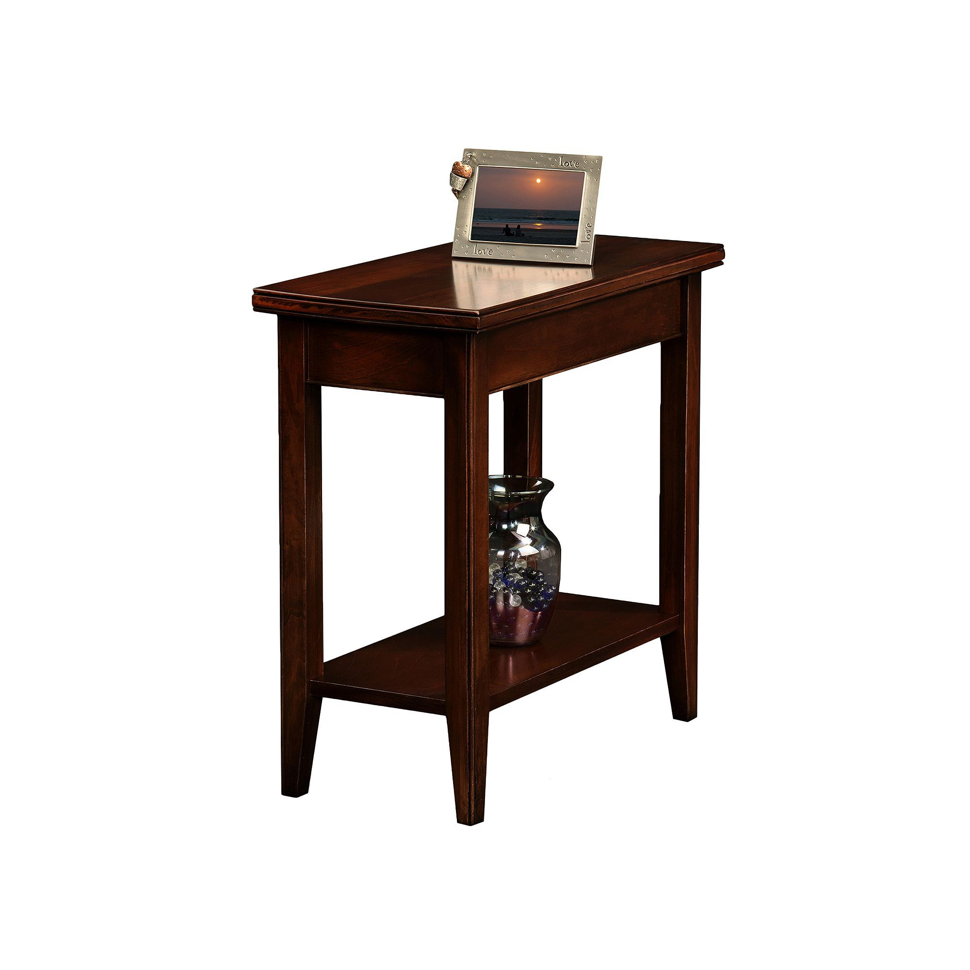 Leick Furniture Chocolate Cherry Finish Narrow End Table Other Clrs Chair Side Table End Tables End Tables With Storage