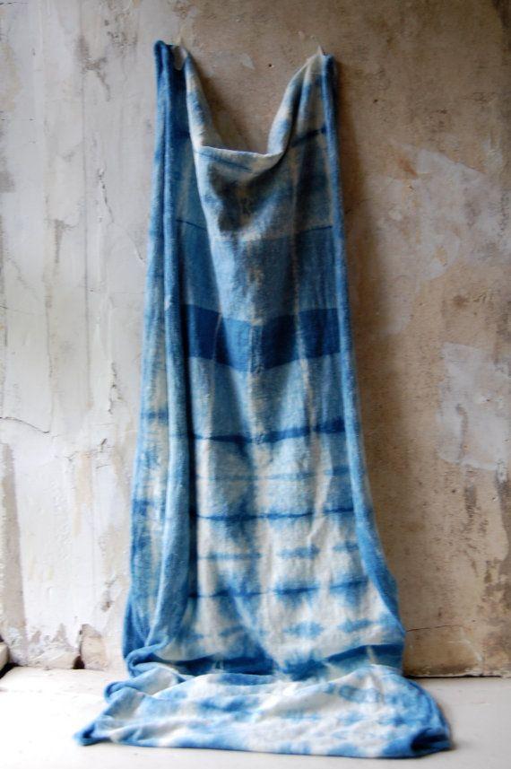 No 1 Scarf Indigo Tie Dye Organic Cotton Hemp Jersey Infinity Naturally Hand Dyed Indigo Tie Dye Tie Dye Scarves Shibori Tie Dye