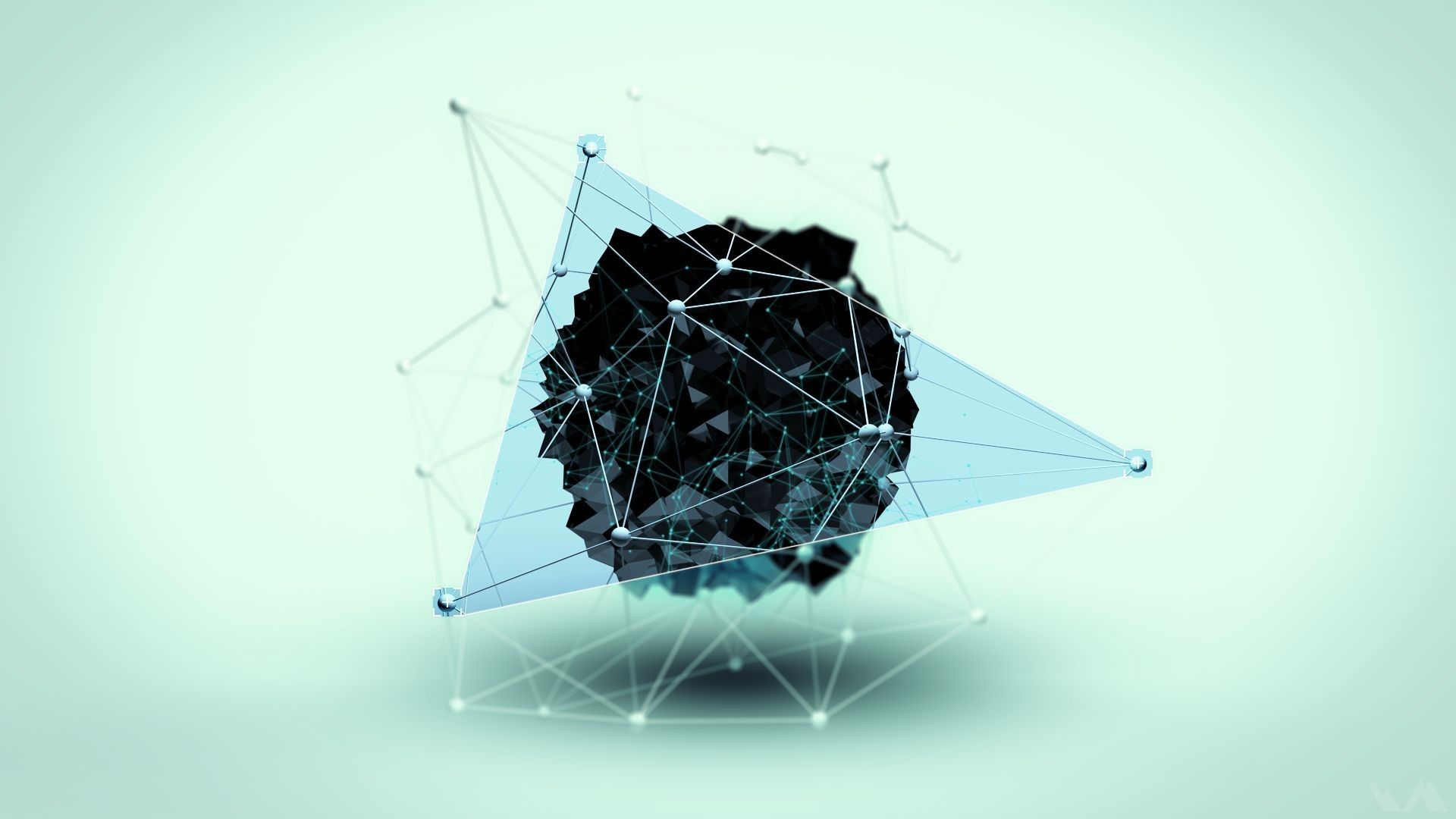 geometry digital art shapes hd wallpaper fullhdwpp full hd  in