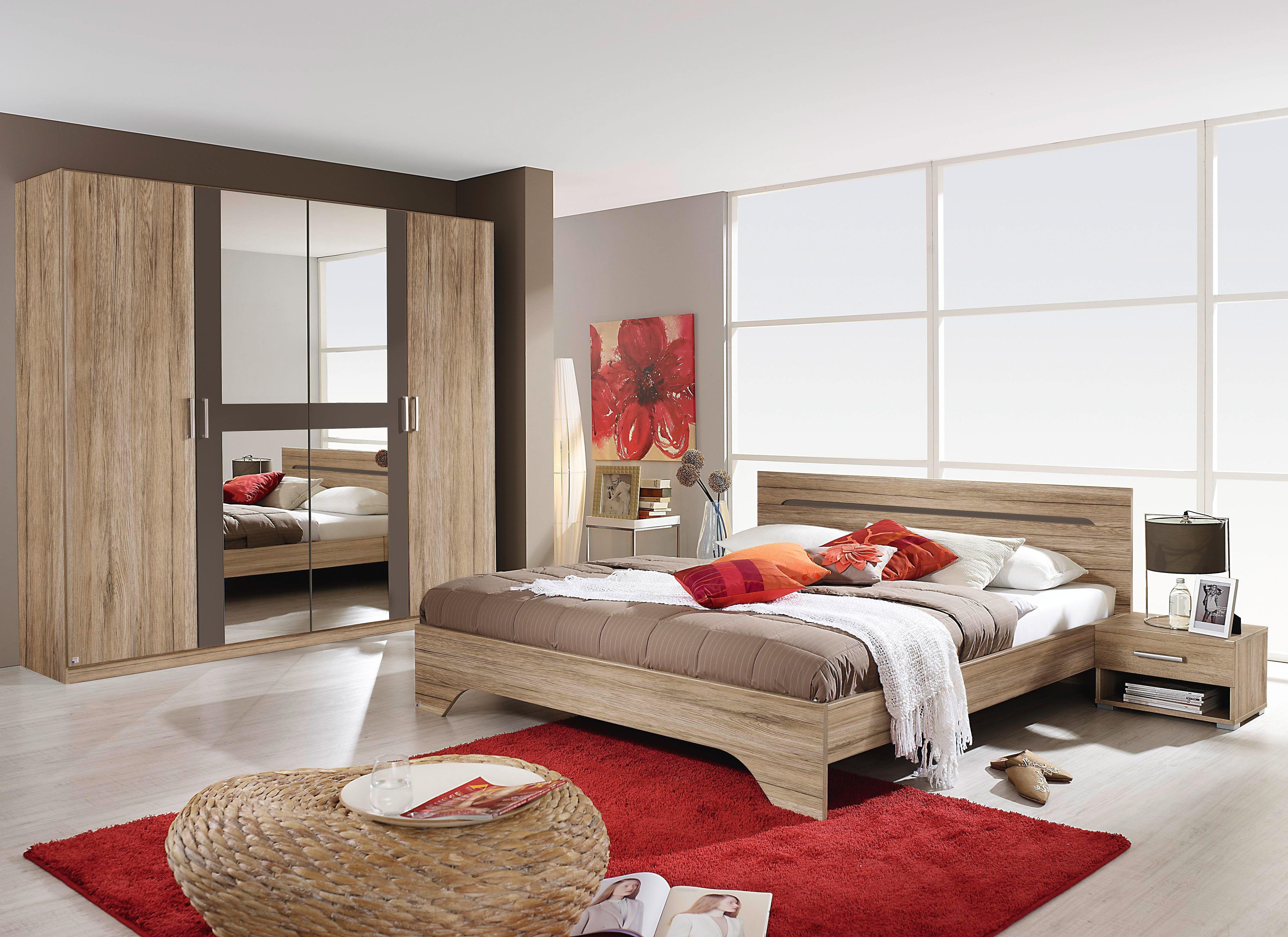 Schlafzimmer Brombeer ~ Schlafzimmer mit bett cm sahara eiche woody