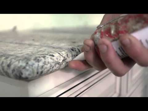 How To Install Granite Tile Countertop (6 of 6) - Filling the Joints