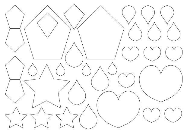 modèle de couronne des rois à imprimer : planche de motifs 1
