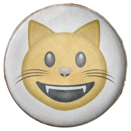 Smiling Cat Face With Open Mouth Emoji Chocolate Covered