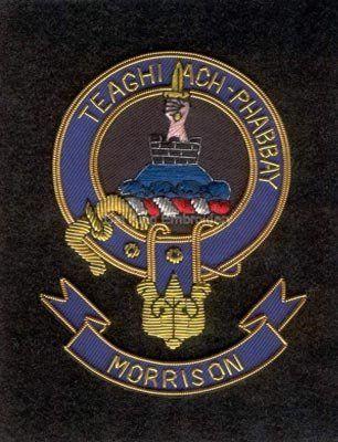 Morrison clan crest badge | Clans crest | Custom embroidered